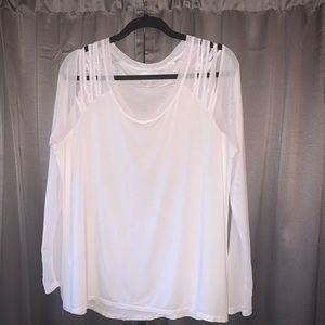 L mesh long sleeve with shoulder cut outs